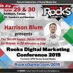 Meet Harrison Blum, Social Media Speaker, Rocks Digital Marketing Conference 2015