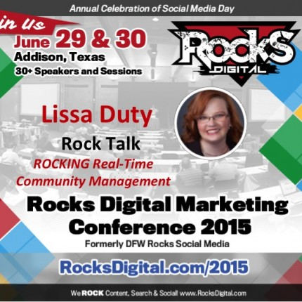 Lissa Duty To Speak On Real-Time Community Management