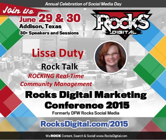 Lissa Duty, Rocks Digital Marketing Conference Dallas 2015 Speaker