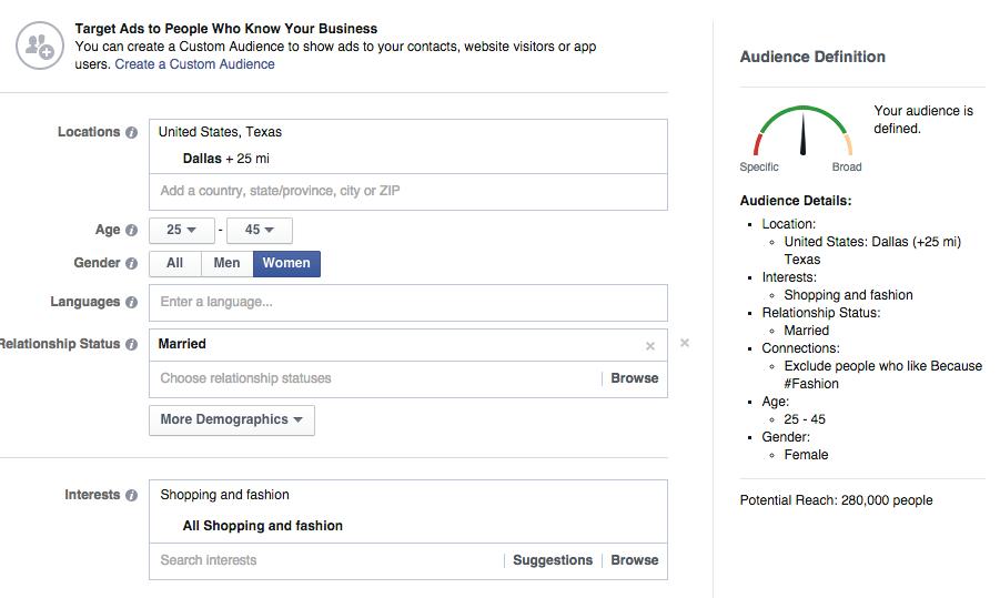 Facebook Ad Target Market