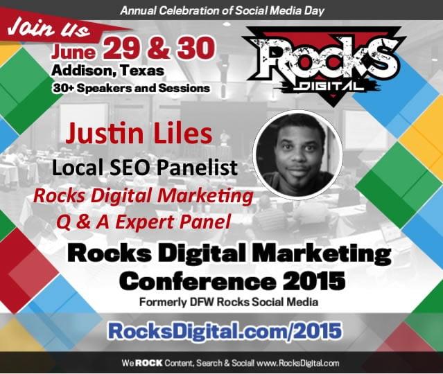 Justin Liles, Local SEO Expert to Speak at Rocks Digital 2015