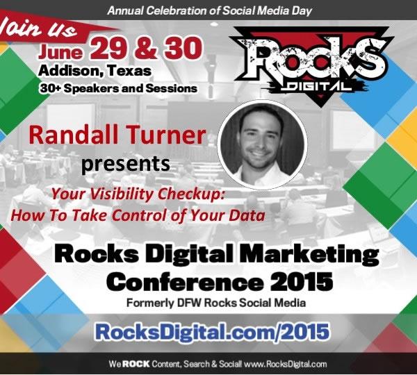 Randall Turner, Digital Marketing Expert, to Speak on Your Visibility Checkup