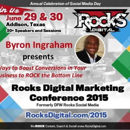 Byron Ingraham To Speak on 5 Ways To Boost Conversions