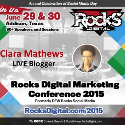 Clara Mathews, Professional Blogger, to Live Blog