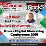 Jeff Klein, Speaker to Emcee at Rocks Digital Marketing Conference 2015