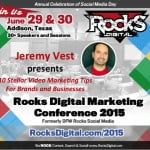 Jeremy Vest, YouTube Expert to Speak at Video Marketing at Rocks Digital Marketing Conference 2015