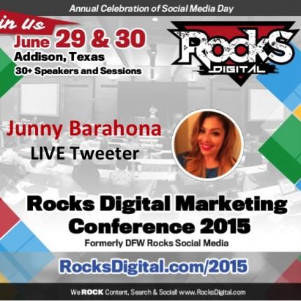 Junny Barahona to Live Tweet at #RocksDigital