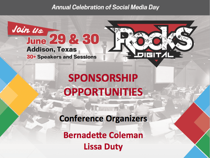 The Call for Rocks Digital Marketing Conference 2015 Sponsors is NOW