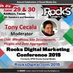 Tony Cecala, WordPress Expert to Moderate at Rocks Digital Marketing Conference 2015