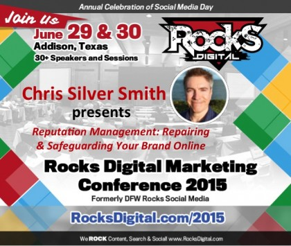 Chris Silver Smith to Speak on Online Reputation Management