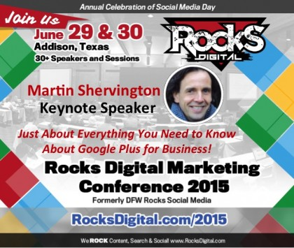 Martin Shervington, Keynote Google Plus Speaker