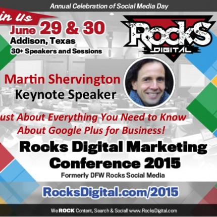 Martin Shervington, Keynote Google Plus Speaker