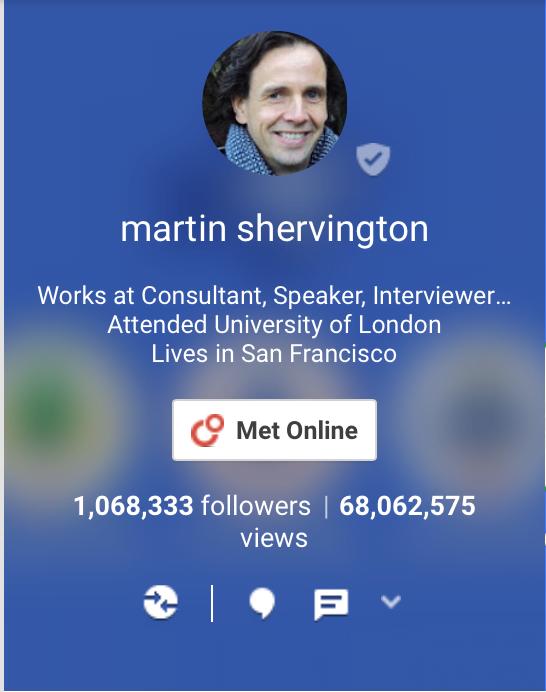 Martin Shervington, Google Plus Expert