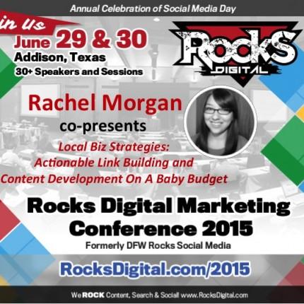 Rachel Morgan To Speak on Local Biz Strategies for Link Building