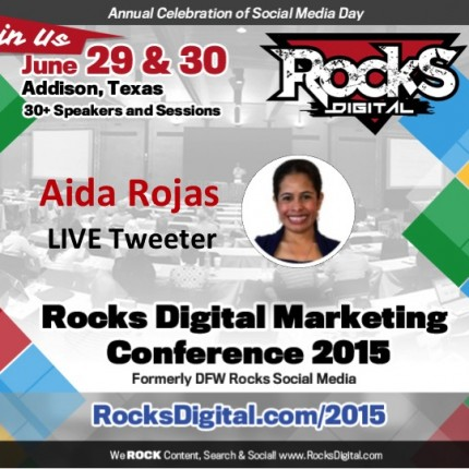 Aida Rojas to Live Tweet at #RocksDigital