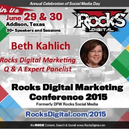 Beth Kahlich, SEO Educator on Rocks Digital Marketing Panel