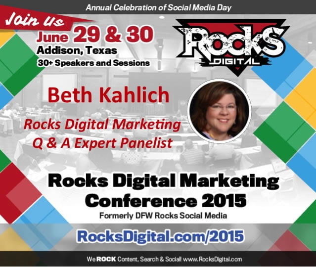 Beth Kahlich, SEO Educator on Rocks Digital Marketing Panel