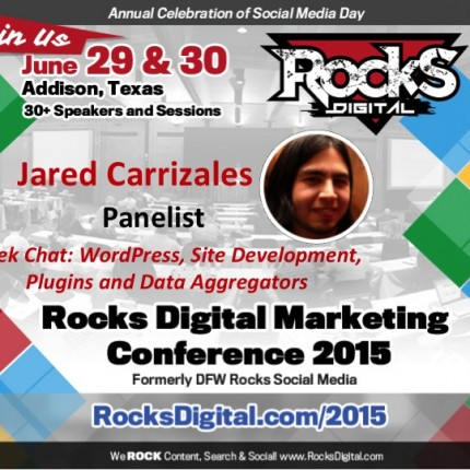 Jared Carrizales To Participate on Geek Chat Panel