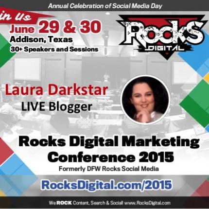 Laura Darkstar Will Be LIVE Blogging at Rocks Digital
