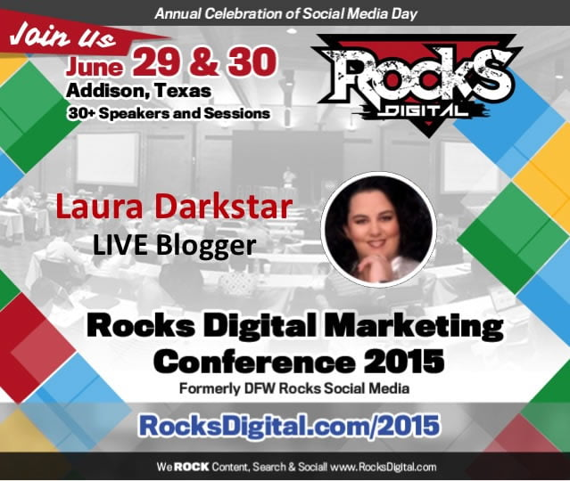 Laura Darkstar, Virtual Assistant to LIVE Blog at Rocks Digital 2015