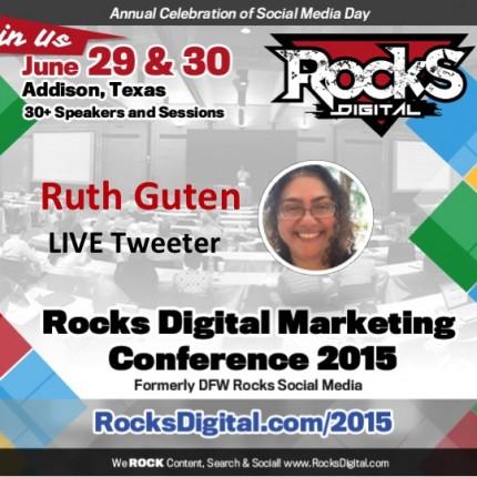 Ruthie Guten to Live Tweet at #RocksDigital