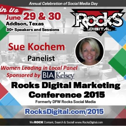 Sue Kochem, Marketing Professional on Women Leading in Local Panel
