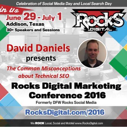 Vertical Nerve's David Daniels Dispels Technical SEO Myths at Rocks Digital 2016