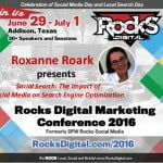 Roxanne Roark presents on Social Media Day Rocks Digital 2016