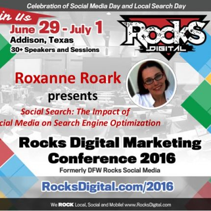 Roxanne Roark Explores The Impact of Social on Search at Rocks Digital 2016