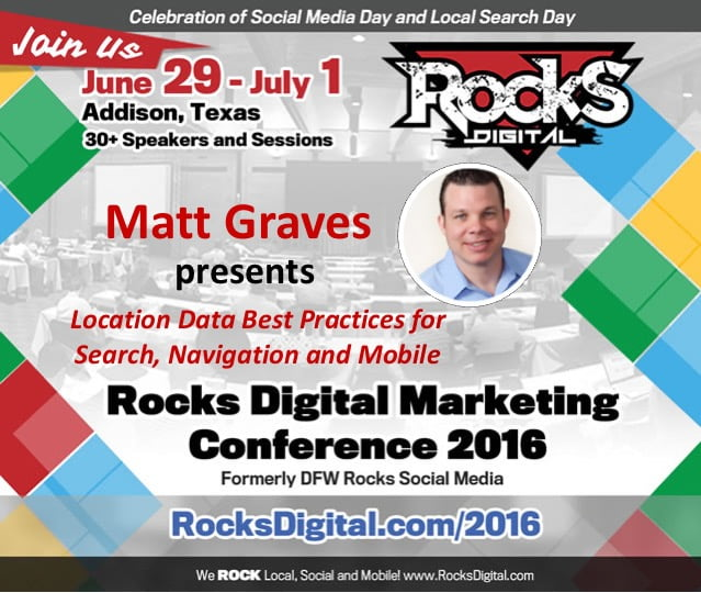 Matt Graves of Infogroup to Share Best Practices for Local Data Aggregation at Rocks Digital 2016