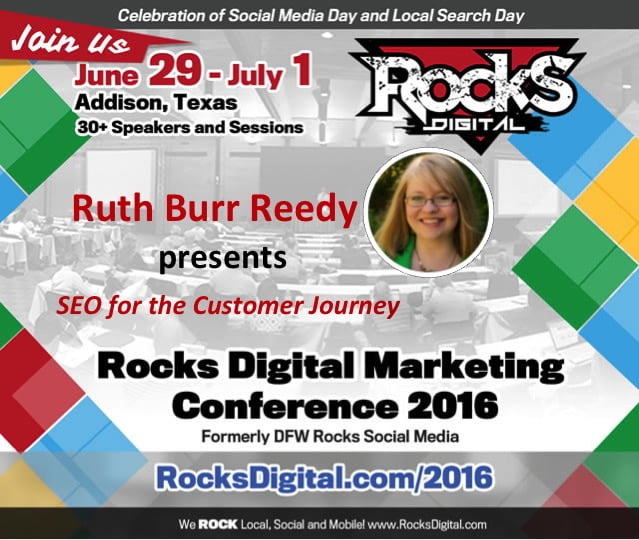 Ruth Burr Reedy to Speak on SEO and the Customer Journey at Rocks Digital 2016