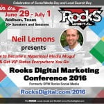 Neil Lemons, Rocks Digital Marketing Conference Dallas 2016