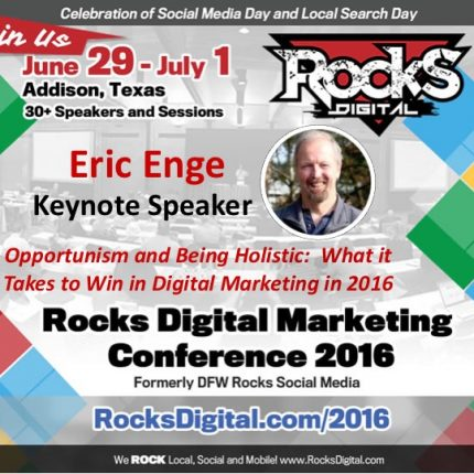 Eric Enge, CEO of Stone Temple Consulting to Keynote at Rocks Digital 2016
