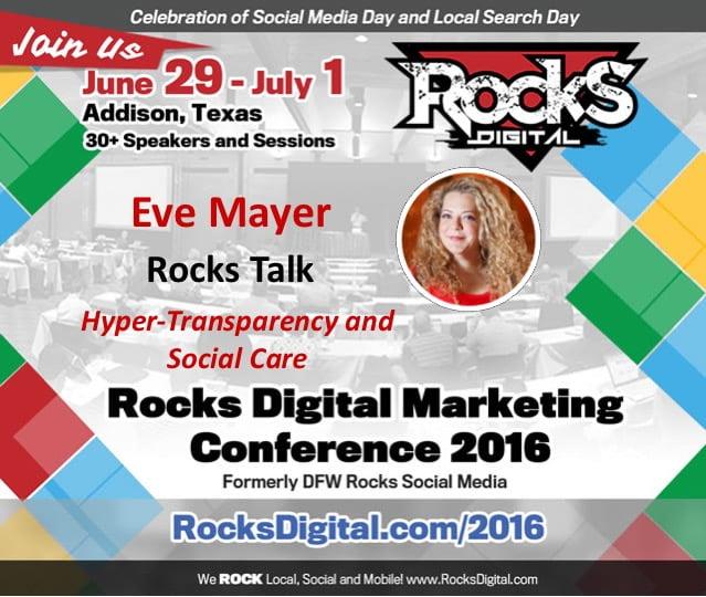 Eve Mayer Talks Transparency and Brand Management at Rocks Digital 2016!