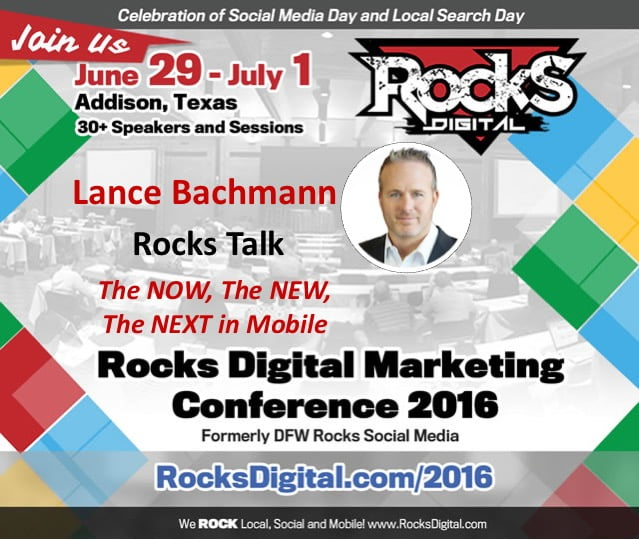 The Now, The New, The Next in Mobile by Lance Bachmann At Rocks Digital 2016 – Live Blog