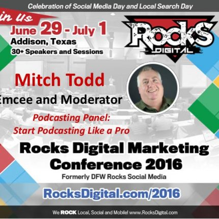 Mitch Todd Wrangles Content Breakouts as Emcee and Moderates Podcasting Panel