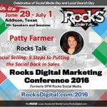 Patty Farmer, Rocks Digital Marketing Conference Dallas 2016
