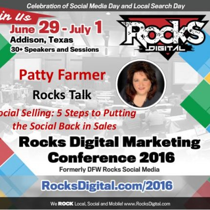 Patty Farmer Brings Social Selling Success to Rocks Talks 2016
