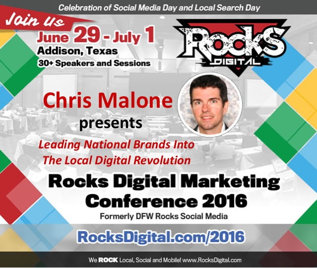 Marquette Group's Chris Malone to Present on the Local Digital Revolution at Rocks Digital 2016!