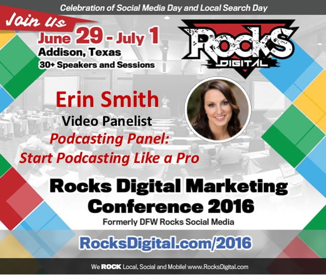 Erin Smith Podcasting Panelist Rocks Digital Marketing Conference 2016