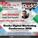 Jeff Whitfield, Rocks Digital Marketing Conference Dallas 2016
