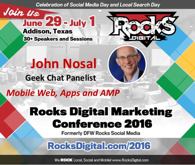 John Nosal Shares His Web Expertise on the Geek Chat Panel and Co-Present Social Media Workshop