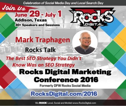 Mark Traphagen to Present a Rocks Talks and Breakout Session at Rocks Digital