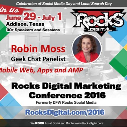 Robin Moss Brings Her Mobile Expertise to the Geek Chat Panel