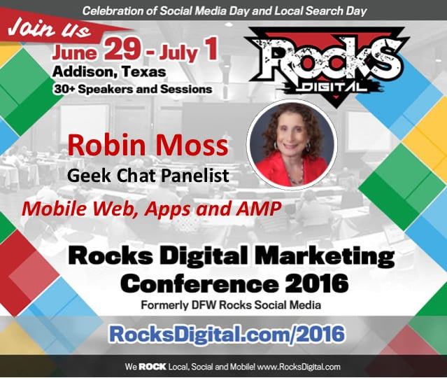 Robin Moss, Rocks Digital Marketing Conference - Dallas