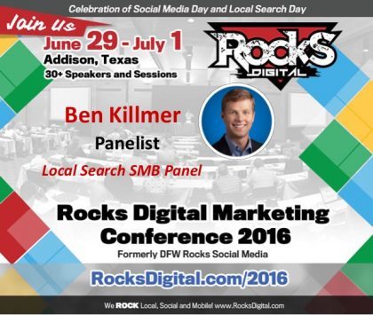 Google's Ben Killmer Joins the Local Search SMB Panel at Rocks Digital