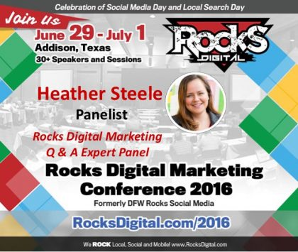 Heather Steele Joins the 2016 Rocks Digital Marketing Q & A Panel