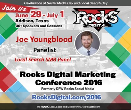 Joe Youngblood Brings His SEO Mastery to Rocks Digital as an Emcee & Panelist