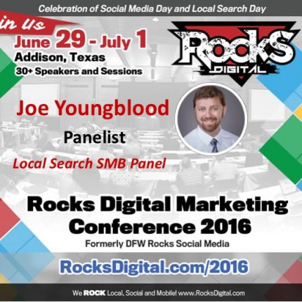 Joe Youngblood Brings His SEO Mastery to Rocks Digital as an Emcee & Panelist