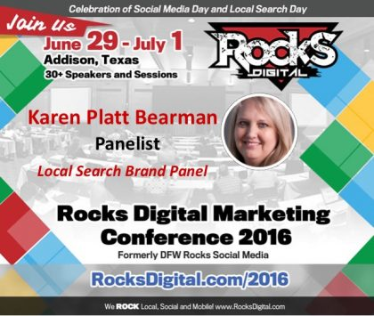 Reach Local's Karen Platt Bearman Joins Rocks Digital's Local Search Day Brand Panel!